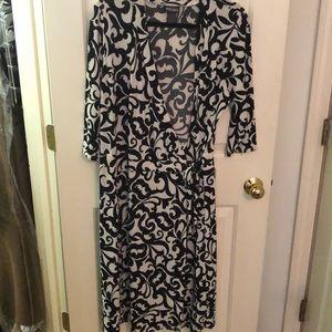 Bisou Bisou Printed Wrap Dress (Plus-Size)